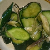 胡瓜とミョウガの浅漬け