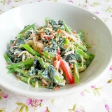 大人味!小松菜とカニカマのサラダ