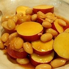 さつまいもと大豆のレンジ煮