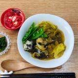 【糖質制限】サバ缶とキャベツのカレー煮