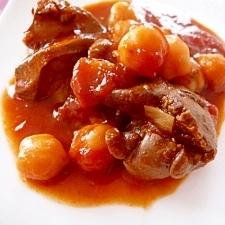 鶏レバーとひよこ豆のトマト煮