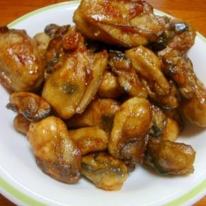 牡蠣の醤油焼き
