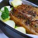 豚肩ロースブロックのダッチオーブン焼き