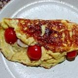 茄子とオリーブのパテとパテを使った贅沢オムレツ