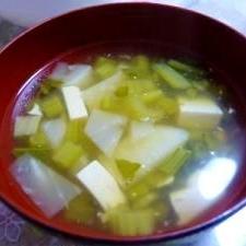 カブと豆腐のスープ