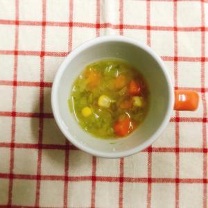 【離乳食完了期】コーン入りの野菜スープ