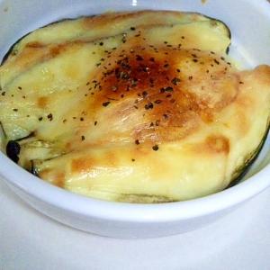 レンジ&トースター☆柔らかナスのこんがりチーズ焼き