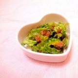 梅風味♪わさび菜のお漬け物