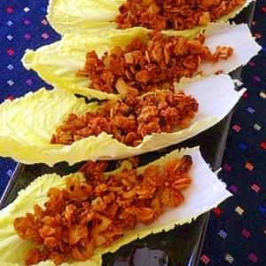 スパイシーシリアルの白菜ボートサラダ