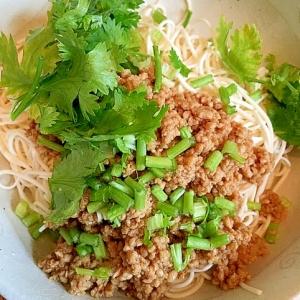 【糖質制限×低カロリー】パクチー豆腐麺