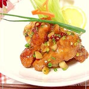 ピリ辛スタミナ酢鶏♬ 作り方も簡単!美味しい~★