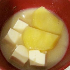じゃが芋と豆腐の味噌汁