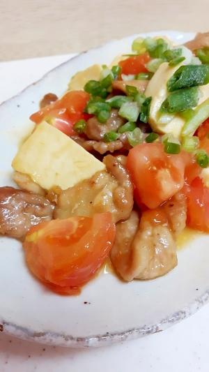 簡単・おいしい!(^^)トマト入り肉豆腐♪