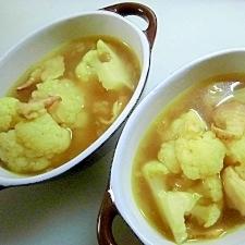カレー風味のカリフラワースープ