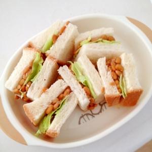 納豆サンドイッチ☆離乳食