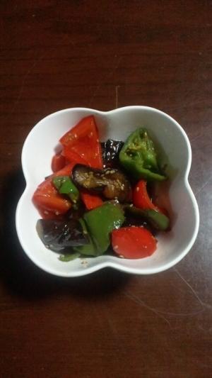 茄子とピーマンの炒め物
