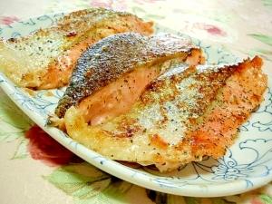 ご飯が進むくん❤鮭の大蒜塩麹バジルバター焼き❤
