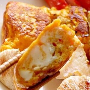 梅とシラスの卵焼き
