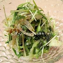ほうれん草、もやし、水菜のナムルサラダ