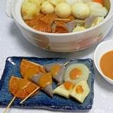 生姜味噌ダレと鶏皮の青森おでん(ご当地おでん)