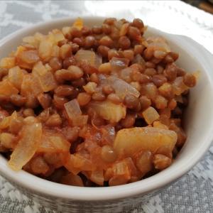 トルコ料理★緑レンズ豆の煮込み