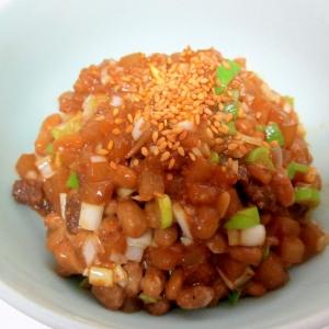 大根ネギ味噌納豆