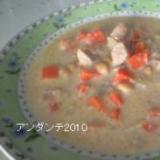 大豆のなんちゃってクリームシチュー(酒かす煮)