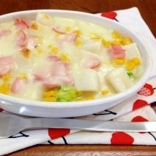 白菜たっぷり☆お餅でグラタン