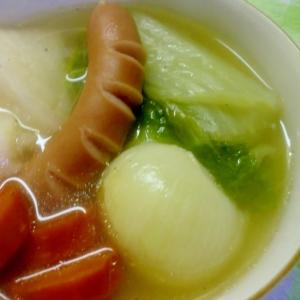 白菜と大根のポトフ**塩麹を使って