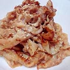ゴマ豚生姜焼き