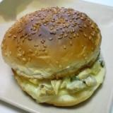 鶏肉ときゅうりのキューちゃんのハンバーガー
