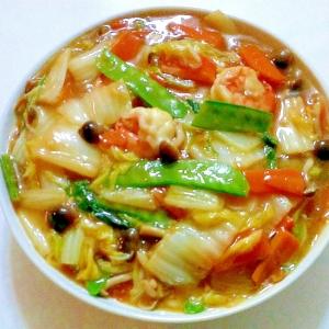 えびとたっぷり野菜の中華あんかけ