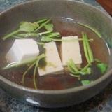 豆腐と韓国海苔の簡単スープ