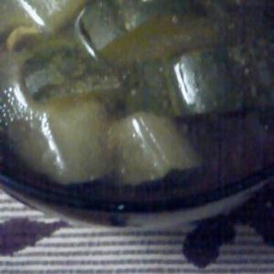 きゅうりと麩の中華スープ