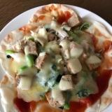 餃子の皮で⁉ ピザ(*゚▽゚*)