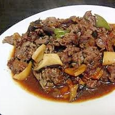 ★簡単★牛肉とエリンギのオニオンソース炒め