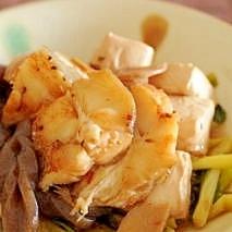カレイと豆腐のピリ辛煮