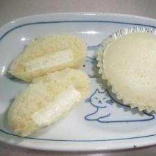 クリームチーズ入り蒸しパン