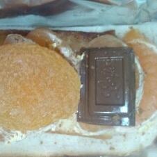チーズケーキトースト(みかん+チョコレート)