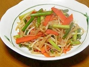 低予算:にんにくの芽で野菜炒め