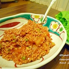 キムチ納豆レタス巻き♪