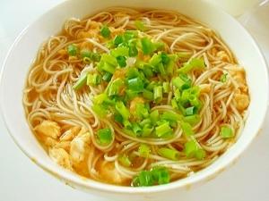 かき玉 温麺