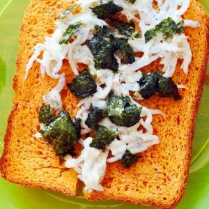 幼児食☆シラスと海苔のトースト