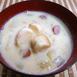 お麩の豆乳スープ