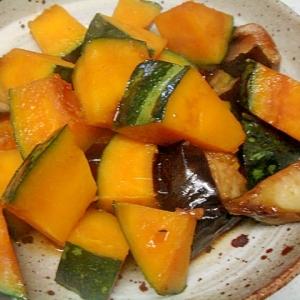 南瓜と揚げ茄子の中華風ピリ辛煮