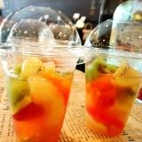 柿と桃入り フルーツポンチ