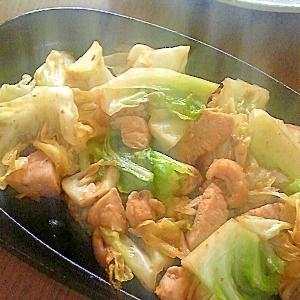 鶏むね肉と春キャベツのウマウマ炒め☆