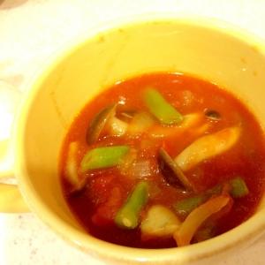 レンジで早業!コクうまトマトスープ