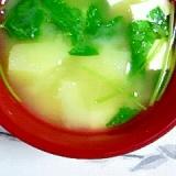 北明かりとお豆腐のお味噌汁