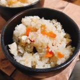 干し野菜でかしわご飯(炊き込みご飯)